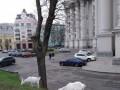 Возле МИД Украины выпасали коз