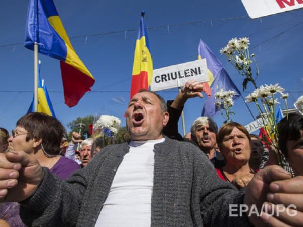 Протестующие вКишиневе перекрыли центр города