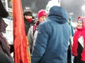 У российских болельщиков на Олимпиаде забрали флаг с Лениным