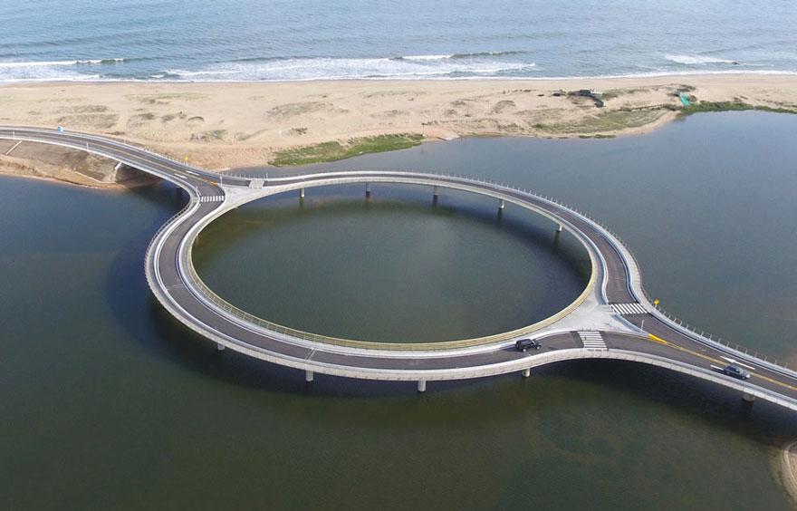 Круглый мост на южном побережье Уругвая