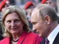 Невесту, пригласившую Путина на свадьбу, просят покинуть правительство Австрии
