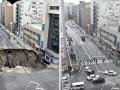 В Японии дорогу после обвала отремонтировали за 48 часов