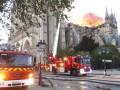 Пожарные показали, как боролись с огнем в соборе Парижской Богоматери