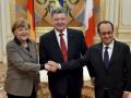 Порошенко: На встрече с Меркель и Олландом будет обсуждаться ситуация на Донбассе и безвизовый режим