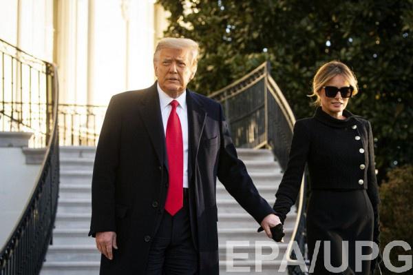 Дональд Трамп вместе с женой Меланией