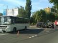 В Луцке автобус Нацгвадии протаранил внедорожник