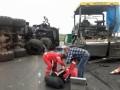 Военный МАЗ снес бригаду дорожных рабочих: Двое погибли