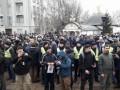 В Киеве провели молебен против захвата храма УПЦ (МП)