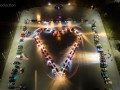 В Запорожье создали сердце из десятков автомобилей