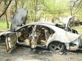 В Енакиево найден сгоревший Mercedes с трупом в багажнике