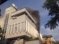 В Киеве произошел пожар в офисе Интера