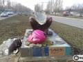 Луганская милиция: Подаренный Львовом Писанковый лев развалился сам