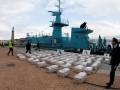 В Карибском море перехватили корабль с крупной партией кокаина