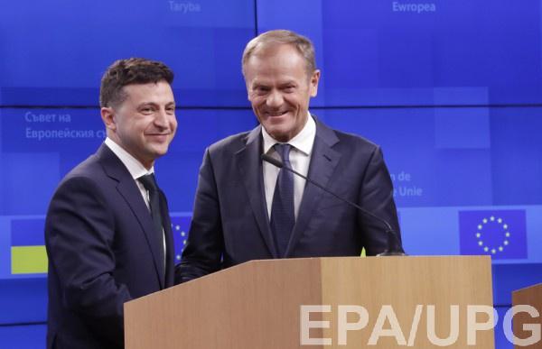 Зеленский встретился с Туском в Брюсселе