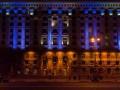 Здание Киевской мэрии будут подсвечивать национальными цветами