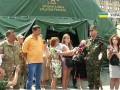На Майдане развернули мобилизационную палатку Нацгвардии