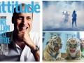 День в фото: Принц на обложке гей-журнала, протесты в Париже и тигрята на медосмотре