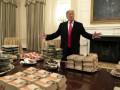 Трамп за свой счет заказал 300 гамбургеров в Белый дом