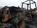 Штаб ООС показал видео трактора, уничтоженного боевиками