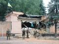 Последствия штурма танковой базы в Артемовске: флаг Украины над руинами