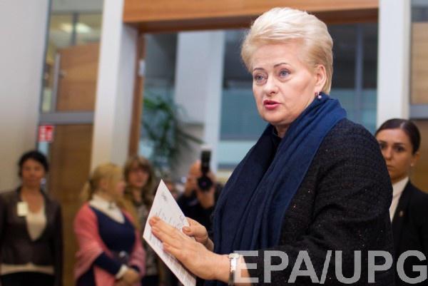 Грибаускайте: Литва должна быть готова клюбым действиям состороныРФ