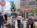 В Киеве на Харьковском массиве загорелись киоски