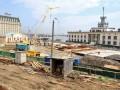 На Почтовой площади в Киеве возобновили строительные работы