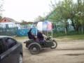 В Одесской области депутат проехался по селу с российским и советским флагами