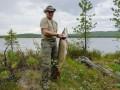 Вот это улов: Президент России на отдыхе поймал огромную щуку (ФОТО)