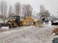 Возле станции метро Харьковская снесли остатки рынка