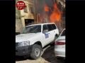 В Киеве загорелся жилой дом