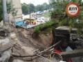 Обрушение путепровода в Киеве: перекрыта часть улицы