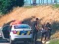 В Полтаве африканец угнал машину с двумя детьми в салоне