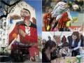 День в фото: Мурал на Подоле, мастер-класс Порошенко и полет Крыховяка