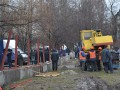 В Киеве между местными жителями и застройщиком произошли столкновения