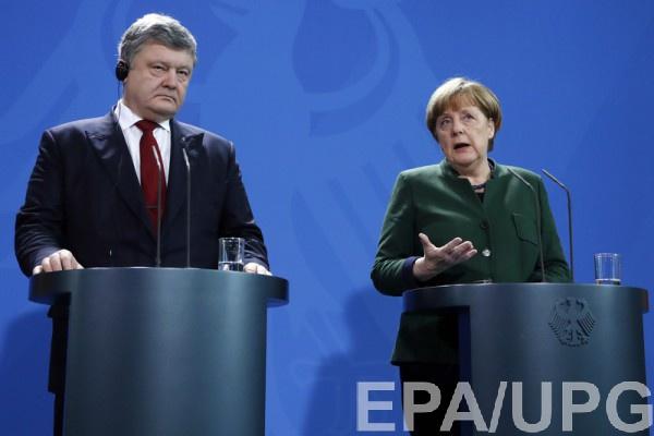 Меркель: Мыприветствуем реформы вУкраинском государстве ибудем помогать их воплотить