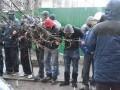 В центре Киева перекрывали дорогу, протестуя против скандальной стройки на улице Пирогова