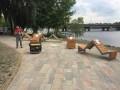 В Киеве повредили скамейки, которые установили к Евровидению