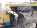 В Черновцах троллейбус с пассажирами загорелся на ходу