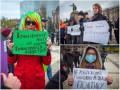 В центре Киева на марш трансгендеров пришли их противники