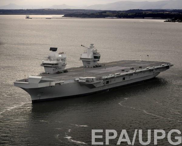 HMS Queen Elizabeth - крупнейший корабль ВМС Великобритании