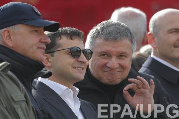 Президент Владимир Зеленский и министр МВД Арсен Аваков