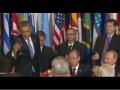 Обама не чокнулся с Путиным бокалом во время ланча в ООН