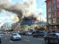 У Кличко назвали предварительную причину пожара на Крещатике