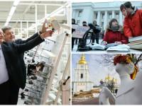 День в фото: президент на открытии завода, протест студентов под Радой и ангелы на Михайловской площади
