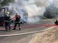 На Черкащине загорелся автобус с пассажирами