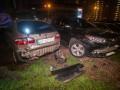 В Киеве пьяный водитель протаранил семь авто на стоянке