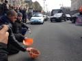 Шахтеры установили палатку в центре Киева после потасовки с незвестными