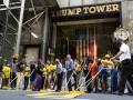 Рядом с башней Трампа появилась надпись Black lives matter