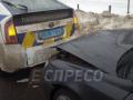 В Киеве иномарка протаранила авто полицейских